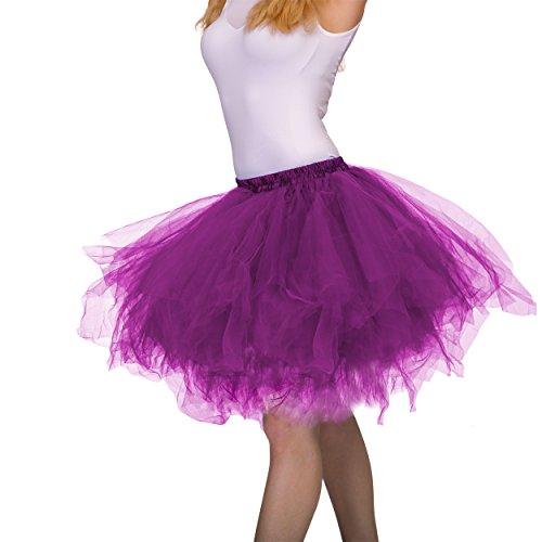 Dancina Damen Petticoat 50er Jahre Vintage Tutu Tüllrock [Sticker XXL] Lila Gr. ()