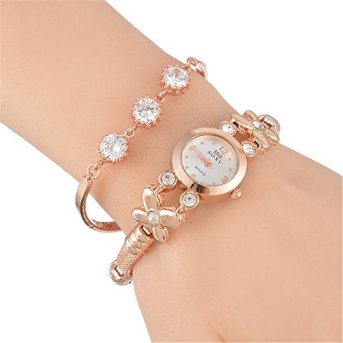 Souarts-Womens-Rose-Gold-Color-Rhinestone-Quartz-Analog-Wrist-Watch-Bracelet-Christmas-Gift-Set