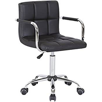 hnnhome new design swivel pu leather office furnitue computer desk office chair black