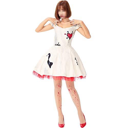 kMOoz Halloween Kostüm,Outfit Für Halloween Fasching Karneval Halloween Cosplay Horror Kostüm,Horror-Voodoo-Puppe Psychic Curse Doll Cosplay Bloody Kostüm - Sexy Voodoo Puppe Kostüm