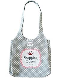 """Krasilnikoff - Bag - Shopper - Einkaufstasche - Henkeltaschen """" Shopping Queen"""" 100% Baumwolle 34 x 45 cm"""