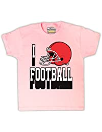 I Love de casco de fútbol americano Kids–Camiseta para Niños