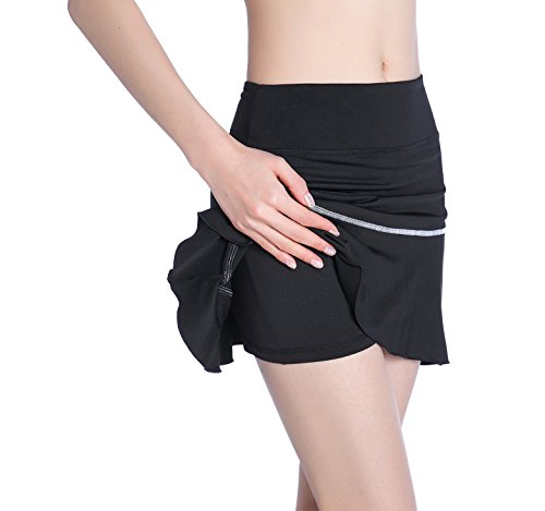 EAST HONG Women's Pocket Running Skirt with Athletic Shorts for Gym Tennis Golf Workout