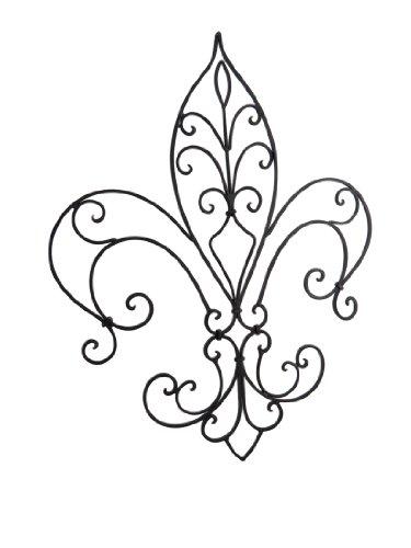Ferro battuto ornato Fleur de lis decorativo
