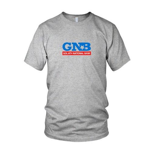 HIMYM: Goliath National Bank - Herren T-Shirt, Größe: L, Farbe: grau meliert