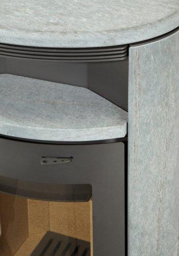 THERMIA Kaminofen Olympus V3, Naturstein, 7 kW, ovale Form, -
