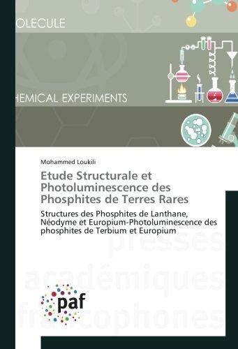 Etude Structurale et Photoluminescence des Phosphites de Terres Rares: Structures des Phosphites de Lanthane, Neodyme et europium-Photoluminescence des phosphites de Terbi