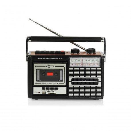Ricatech PR85–Radio Cassette, lecteur/enregistreur USB/SD, Couleur Noir