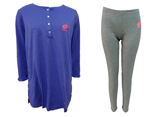 pigiama donna lungo con leggings caldo cotone LOTTO homewear nuova collezione art. LP2005 malibu