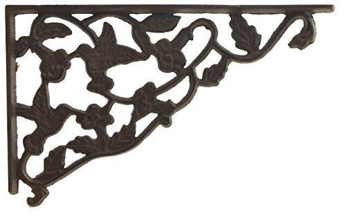 Vine Bracket (Regalwinkel Deko Gusseisen Wand Korsett Kolibri & Vine Muster 29,8cm)