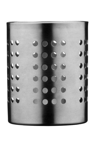 Premier Housewares - Soporte para cubiertos diámetro 10 cm, acero inoxidable perforado, color plateado...