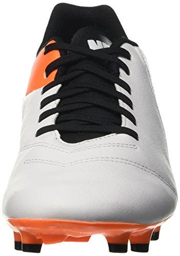 Nike Tiempo Genio II Fg, Chaussures de Running Homme Blanc (White/Black Total Orange)