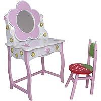 Preisvergleich für habeig SCHMINKTISCH #264 Frisiertisch Kinderschminktisch Kindertisch Sitzgruppe Hocker