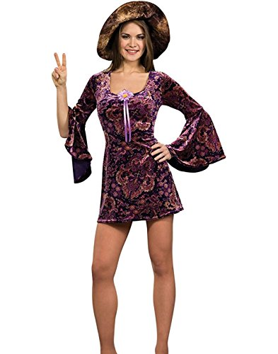 Rubies 1960's Groovy Hippie Girl Womens Dress S