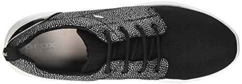 Geox Damen D Ophira A Sneaker Schwarz (Blackc9999)