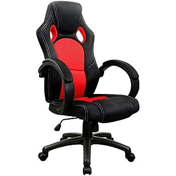 Sedia da ufficio Sedia sportiva nera/rossa Sedia girevole ...