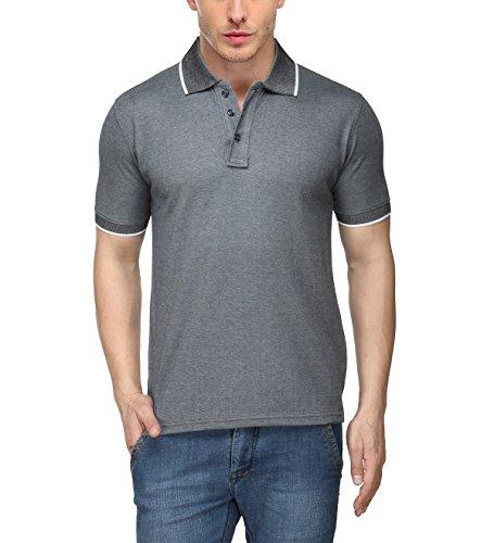 Spark Men's Premium Rich Cotton Polo T-shirt - 1.1_spk5_M - Charcoal