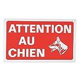 Ami Confort 6ANI643 Plaque attention chien 33 x 20cm, Rouge