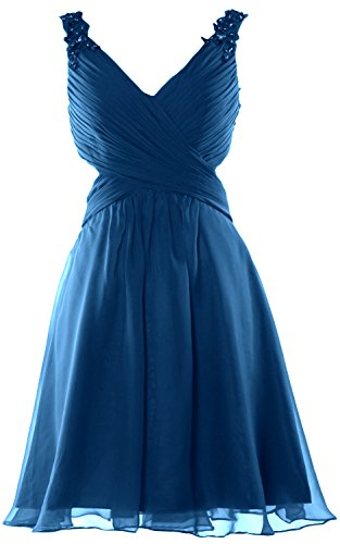 MACloth - Robe - Cocktail - Sans Manche - Femme Bleu - Bleu-vert