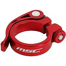 MSC Bikes MSC Quick Binder Aluminium 34.9 mm - Cierre rápido tija de sillín de ciclismo, color rojo anodizado