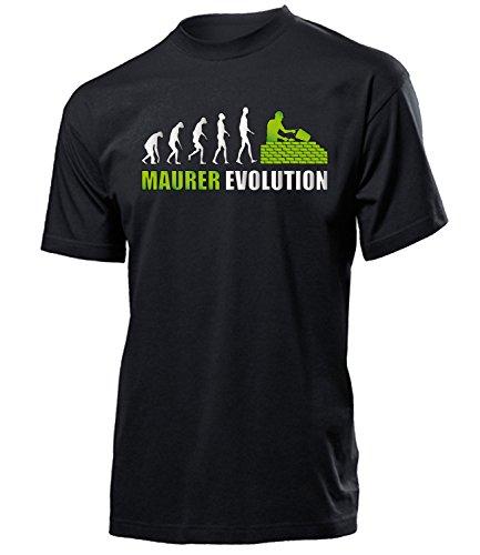 Maurer Evolution 4580 Herren T-Shirt (H-SW-Weiss-Grün) Gr. M