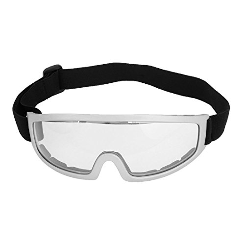 sourcing map Grau Rim Klar LensSkateboard Snowboardbrille Racing Goggles Brillen Eye Protect de