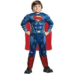 Superman Disfraz Deluxe infantil, M (Rubies Spain 640813-M)