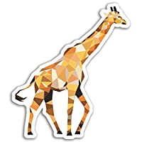 2 x 10cm Abstract Giraffe Vinyl Stickers - Africa Sticker Laptop Luggage #18097