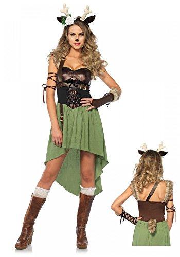 Waldkitz Damen-Kostüm von Leg Avenue - Rehkitz Kitz Bambi Hirsch Rentier, ()