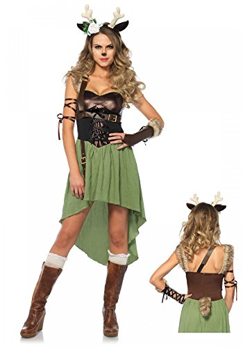 Waldkitz Damen-Kostüm von Leg Avenue - Rehkitz Kitz Bambi Hirsch Rentier, - Bambi Kostüm Halloween