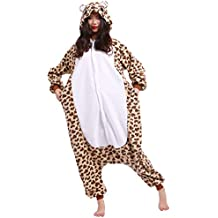 Pijama Oso Leopardo, Onesie Modelo Animal Cosplay para Adulto entre 1,40 y 1,87 m Kugurumi Unisex