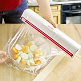 Food Plastic Cling Wrap Dispenser Preservative Film Cutter Kitchen Cooking Tool