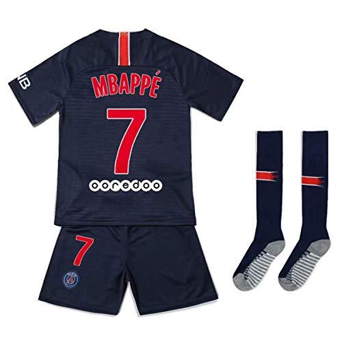 detailed look fb3a8 a491b Brosin Fußball-T-Shirt Sportanzug Trikot, Paris St Germain PSG Nr. 7  MBAPPE, Nr. 9 Cavani, Nr. 10 Neymar Jr Fußball-Sportbekleidung,  Jungen-T-Shirt ...