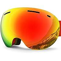 d7e3a5bea0 Zionor Lagopus X5 Frameless Ski Snowmobile Snowboard Skate Goggles with  100% UV400 Protection Anti-