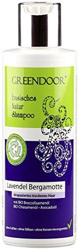 Greendoor Natur Shampoo Lavendel Bergamotte, mit Bio Lavendelöl für strapaziertes trockenes Haar, basische natürliche Haarpflege ohne Sulfate ohne Silikon ohne Konservierungsmittel, all natural