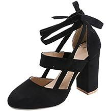 2018 Moda Verano Sandalias y Chanclas, WINWINTOM Nuevo Dama Mujer Moda Alto Tacón Sandalia Tobillo Correa Vestir Sandalia para Fiesta Bodas