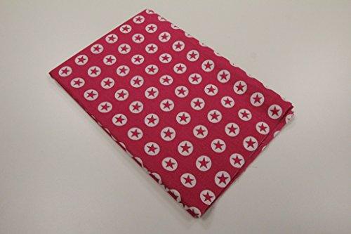 Qualität Baumwolle Stoff (Stoff/50cmx140cm/Kinder/beste Baumwoll-Qualität/Baumwolle Stern im Kreis Pink)