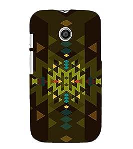 PrintVisa Modern Art Pattern 3D Hard Polycarbonate Designer Back Case Cover for Motorola Moto E