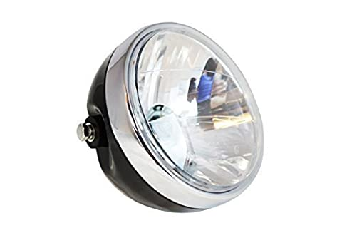 Universal Motorbike Motorcycle Black Metal Cafe Racer Project Custom Headlight E-marked