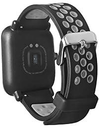 Fossen Silicona Banda de Reemplazo Reloj Correa para Amazfit Sport Smartband (Gris)