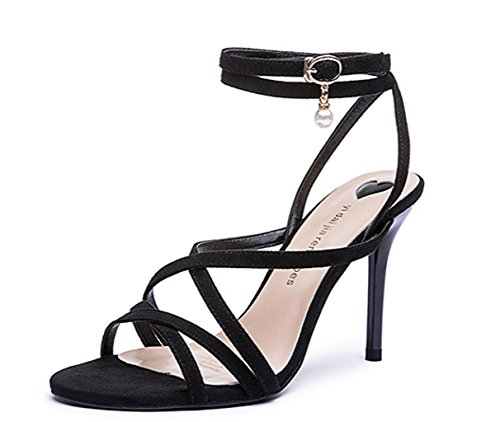 29742553a45 ChunSe Women's Summer high Heel Sandals,Womens Ladies Mid Low High Heel  Prom Strappy Crossover Sandals Shoes Size Party Wedding, 35