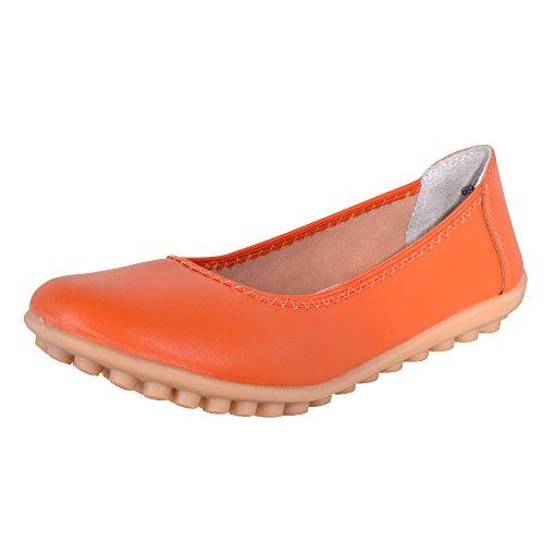 Hee Grand donna bambine estivo Elegante stipulati ballerinr estivo chiuseuomo scarpe. Orange