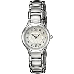 Frederique Constant Damen-Armbanduhr Analog Quarz Edelstahl FC-200WHD1ER6B