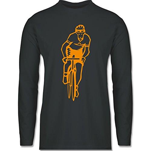Shirtracer Radsport - Radsport - Herren Langarmshirt Dunkelgrau