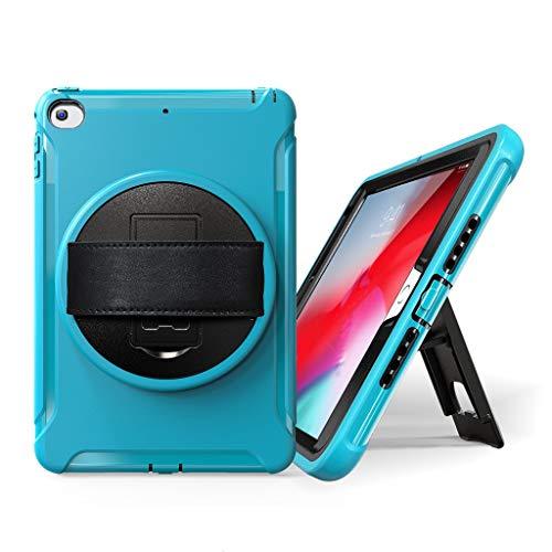 QHJ Hülle für ipad mini 5 / mini 4, 7.9inch 2019 tablet case schlank stehen robuste harte abdeckungLeichtes Gewicht Schock Beweis Griff Freundlich Cabrio Stand Fall für iPad Mini (Himmelblau) Cabrio Stand