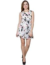 Panit White & Multi Printed Georgette Dress