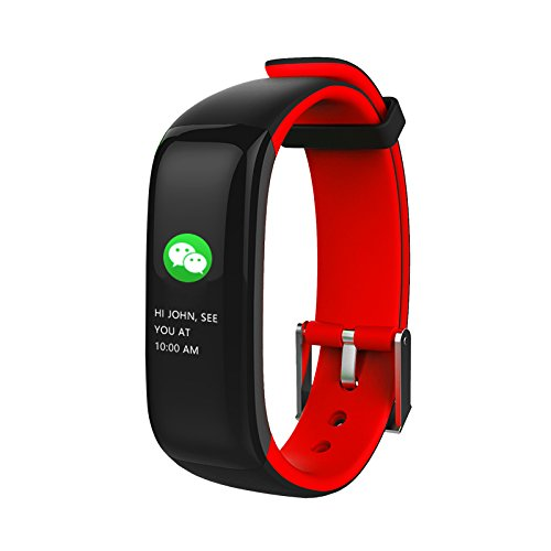 Price comparison product image Aupalla Kids Children Activity Trackers with Heart Rate Monitor Sleep Monitor Smart Health Watch for Girls and Boys (Red1)