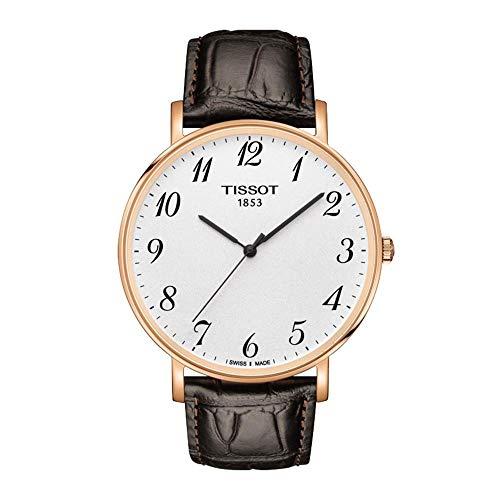 Tissot Reloj Analógico para Unisex Adultos de Cuarzo con Correa en Cuero T1096103603200