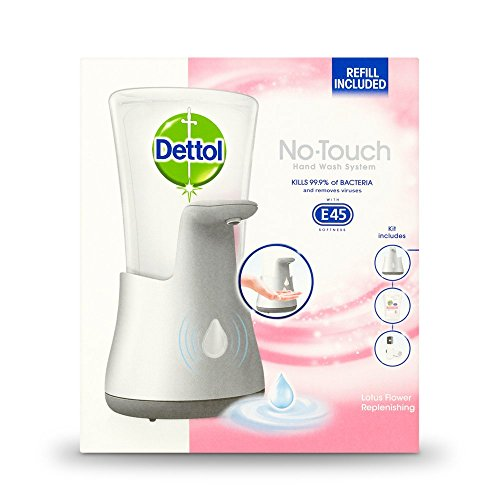 Dettol No Touch Hand Wash System, Lotus Flower, 250 ml