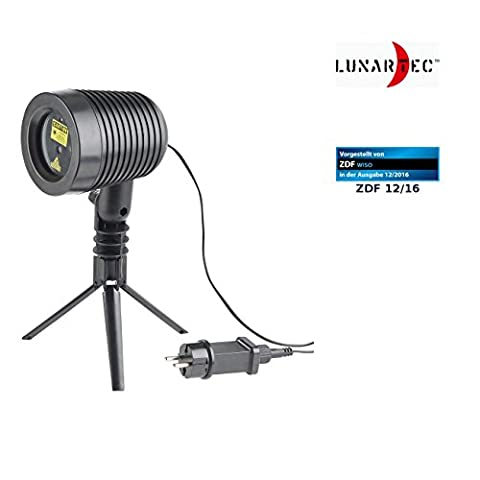 Lunartec Gartenlaser: Laser-Projektor, bewegter Sternen-Regen-Lichteffekt, rot & grün, IP44